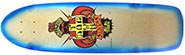 DOGTOWN OG PC TAIL TAP CLASSIC NATURAL/NEON BLUE FADE DECK 8.37 X 30.25