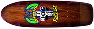 DOGTOWN OG RED DOG RIDER BROWN STAIN/TRANSPARENT PURPLE FADE DECK 9.00 X 30.25