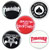 THRASHER BUTTON 5 PACK