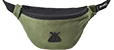 BUMBAG COLLIN PROVOST BASIC GREEN HIP PACK