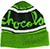 CHOCOLATE CHUNK STRIPE FOLD GREEN BEANIE