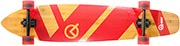 QUEST SUPER CRUISER RED KICKTAIL LONGBOARD COMPLETE 9.50 X 44.00