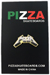 PIZZA METAL LAPEL PIN