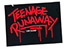 TEENAGE RUNAWAY LOGO BLACK STICKER
