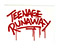 TEENAGE RUNAWAY LOGO CLEAR STICKER