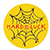 HARD LUCK ANDY ROY SPIDER WEB PIN YELLOW