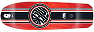 BLACK LABEL EMERGENCY LUCERO THUMBHEAD RACING STRIPE RED STAIN RE-ISSUE DECK 10.00
