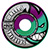 SPITFIRE FORMULA FOUR PURPLE/MINT SWIRL RADIAL 54MM 101D (Set of 4)
