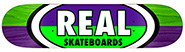 REAL TEAM 50-50 OVALS PURPLE/GREEN DECK 7.75