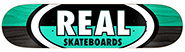 REAL TEAM 50-50 OVALS GREY/BLUE DECK 8.12