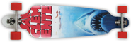 SAN CLEMENTE SHARK WEEK BAMBOO DROP DOWN/DROP THROUGH LONGBOARD COMPLETE 10 x 39.75