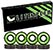 LITEZPEED ABEC 7 GREEN SINGLE SET