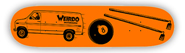 WEIRDO VAN 8 BALL HOES ORANGE STREET SERIES DECK 8.00