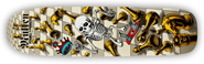 POWELL PERALTA BONES BRIGADE RODNEY MULLEN CHESS WHITE RE-ISSUE DECK 7.40