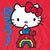 GIRL SANRIO HELLO KITTY RAINBOW RED SS L
