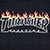 THRASHER SCORCHED OUTLINE BLACK SS S