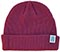 MEOW STACKED LOGO CUFFED MAROON BEANIE