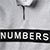NUMBERS WORDMARK QUARTER ZIP UP FLEECE ATHLETIC HEATHER L