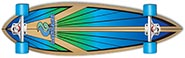 LAYBACK SOUL RIDE PINTAIL LONGBOARD COMPLETE 9.50 X 38.00