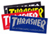 THRASHER MAG LOGO MED STICKER