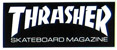 THRASHER MAG LOGO SMALL STICKER