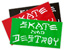 THRASHER SKATE AND DESTROY LG STICKER