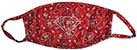 DIAMOND RED BANDANA FACE MASK