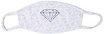 DIAMOND WHITE BANDANA FACE MASK