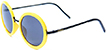 HAPPY HOUR SQUARE YELLOW AND BLACK SHADES SUNGLASSES