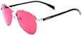 HAPPY HOUR MAVERICK WINEBERRY OVER GOLD SHADES SUNGLASSES
