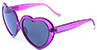 HAPPY HOUR HEART ONS PURPLE STARDUST SUNGLASSES