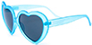 HAPPY HOUR HEART ONS BLUE FROST SUNGLASSES