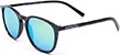 HAPPY HOUR FLAP JACK BLACK GLOSS/YELLOW MIRROR SUNGLASSES