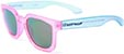 HAPPY HOUR WOLF PUP PINK/CLEAR BLUE SUNGLASSES