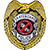 POWELL SKATEBOARD POLICE LAPEL PIN
