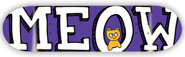 MEOW TEAM LOGO PURPLE DECK 8.25
