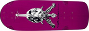 POWELL RAY RODRIGUEZ SKULL & SWORD OG SNUB PURPLE RE-ISSUE DECK 10.00