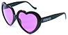 HAPPY HOUR TEAM HEART ONS BLACK SHADES SUNGLASSES