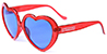 HAPPY HOUR TEAM HEART ONS RED GLITTER SHADES SUNGLASSES
