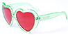 HAPPY HOUR TEAM HEART ONS SEAFOAM SHADES SUNGLASSES