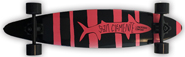 SAN CLEMENTE PINK LADY PINTAIL COMPLETE 8.25 X 36