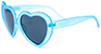 HAPPY HOUR HEART-ONS FROST TEAL SHADES SUNGLASSES