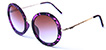 HAPPY HOUR SQUARES MATTE PURPLE TORTOISE SHADES SUNGLASSES