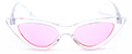 HAPPY HOUR SPACE NEEDLE CLEAR GLOSS/PINK SHADES SUNGLASSES