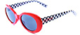 HAPPY HOUR BEACH PARTY RED/CHECKERED SHADES SUNGLASSES