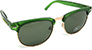 HAPPY HOUR G2 FROST GREEN/G-15 LENS SHADES SUNGLASSES