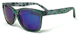 HAPPY HOUR PUDWILL HIGH TIMES BLACK/GREEN MIRRORED SHADES SUNGLASSES