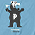 PRIMITIVE X GRIZZLY MASCOT CARLOINA BLUE SS XL