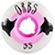 ORBS POLTERGEISTS WHITE/PINK 55MM 102A (Set of 4)