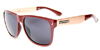 HAPPY HOUR ROMAR BERMUDAS BURGANDY/GOLD SHADES SUNGLASSES